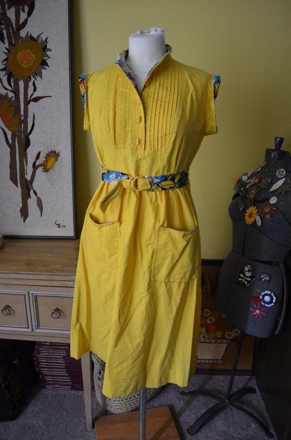 Vintage 1950s Authentic Jonathan Logan Mustard Yel