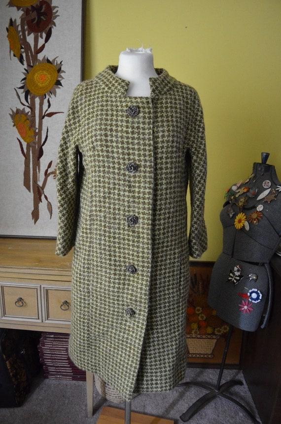 Vintage 60s Houndstooth Carlye Jacket Wool