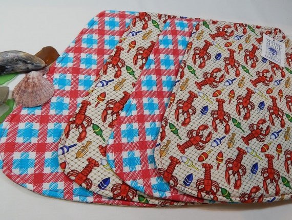 Lobster Placemats Nautical Wedge Placemats Small Table Etsy