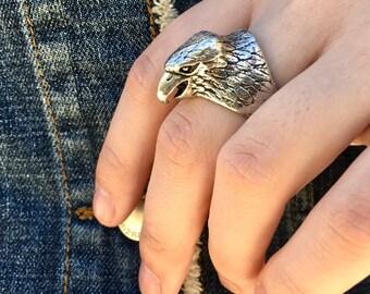 Vintage Silver Eagle Ring Size 10