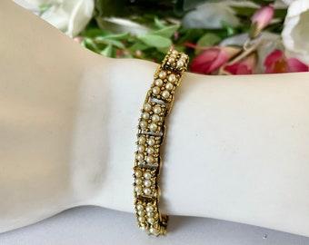 Vintage Pearl Link Bracelet