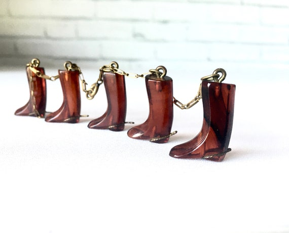 Vintage 1930s Necklace Boot Charms