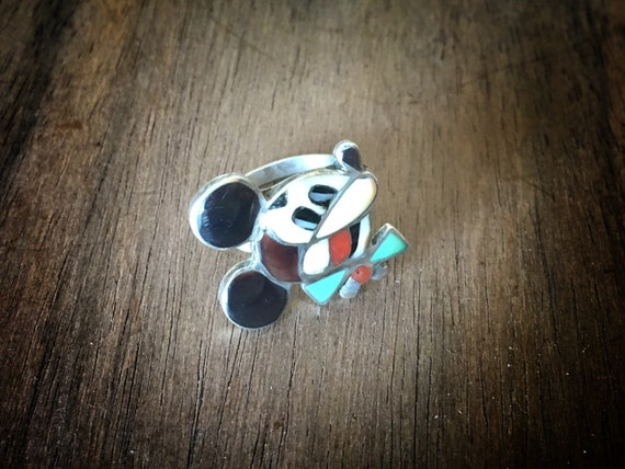 Rare Zuni Mickey Mouse Ring Zunitoons Size 8