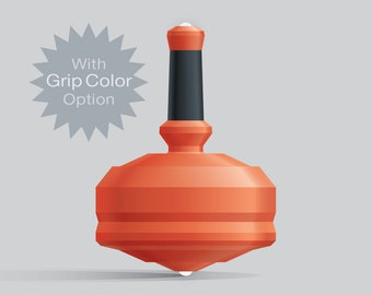 Leap 25G Orange spin top with dual ceramic tip and grip grip color option