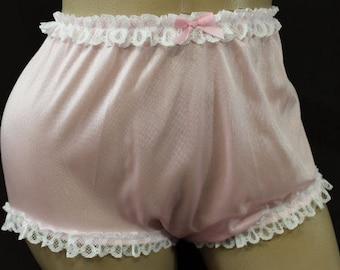 Vintage Style Adult Sissy Tricot & Lace   Panties - Cross dresser - fetish - ABDL
