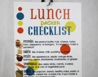 lunch packer checklist