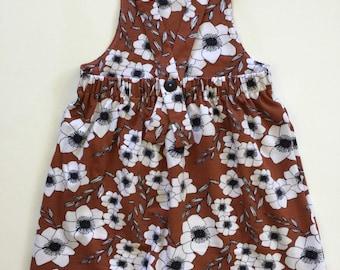 Rusty floral print knit dress, baby girl dress, toddler girl dress, sleeveless dress, cotton dress, play dress, girl outfit, babygirl outfit