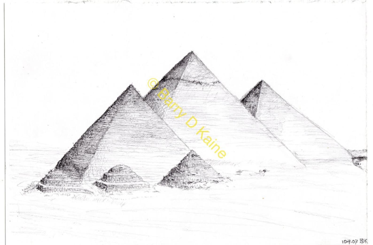 Пирамиды картинки для срисовки