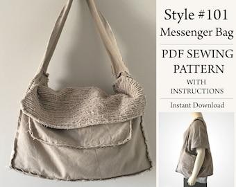 Messenger Bag, PDF Pattern, Sewing Pattern, Instant Download Pattern, Style#101