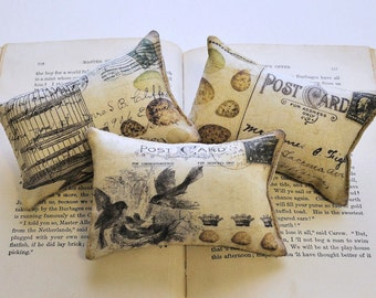 Postcard mini pillows