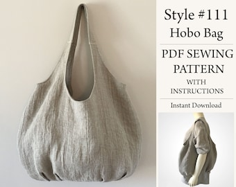 Hobo Bag, PDF Pattern, Sewing Pattern, Instant Download Pattern, Style#111