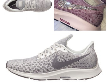 2c936034d795e NEW Bling Nike Air Zoom Pegasus 35 Shoes with Swarovski Crystals   Grey
