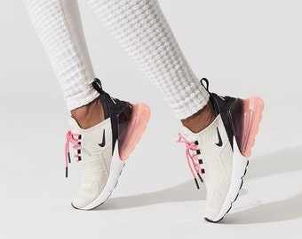 a5486735270f Swarovski Nike Air Max 270 SE Shoes Blinged out with SWAROVSKI® Crystals  Bling Nike Shoes in Light Bone   Pink