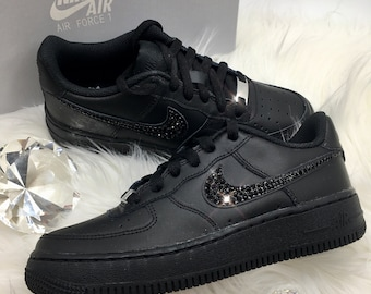 Bling Nike Air Force 1 07 With Swarovski Crystals All Etsy