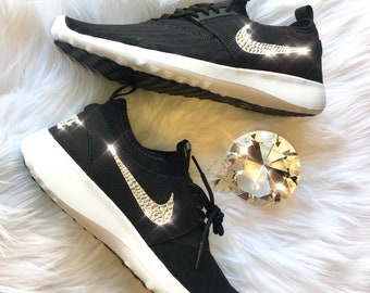 huge selection of 73109 8389c Bling Nike Juvenate Shoes with Swarovski Crystals   Black   White    Bedazzled w 100% Authentic Swarovski Crystal Rhinestones
