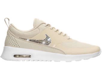 Bling Nike Air Max Thea Shoes with Swarovski Crystals   White   Bedazzled  with Authentic Swarovski Crystal Rhinestones f55a0eb6bc