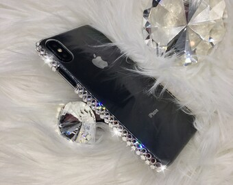 29da6d086 Bling Bumper Style Back Protector Case Cover for All iPhone models with  Sparkly Clear Crystals handmade with Swarovski Crystals