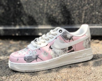 a4d943b484045 Bling Nike Air Force 1 '07 with Swarovski Crystals ALL   Etsy