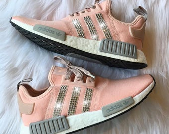 Bling Adidas NMD with Swarovski Crystals   Women s Originals NMD R1 Runners  Casual Shoes   Vapour Pink FREE SHIPPING b33fe2c251ea