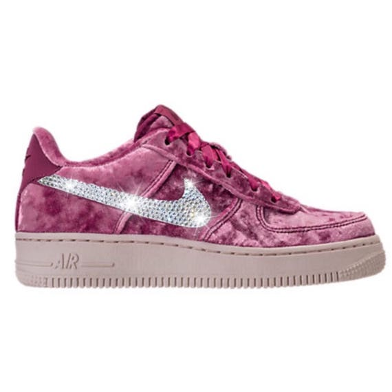 Bling Nike Air Force 1 LV8 Velvet Shoes with Swarovski Crystal  3c734521654c