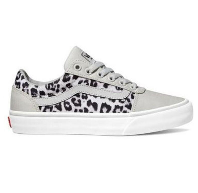 80c115925f190 Swarovski Leopard Vans Women's Skate Shoes Blinged out with SWAROVSKI®  Crystals Bling Vans in Classic Black & Grey