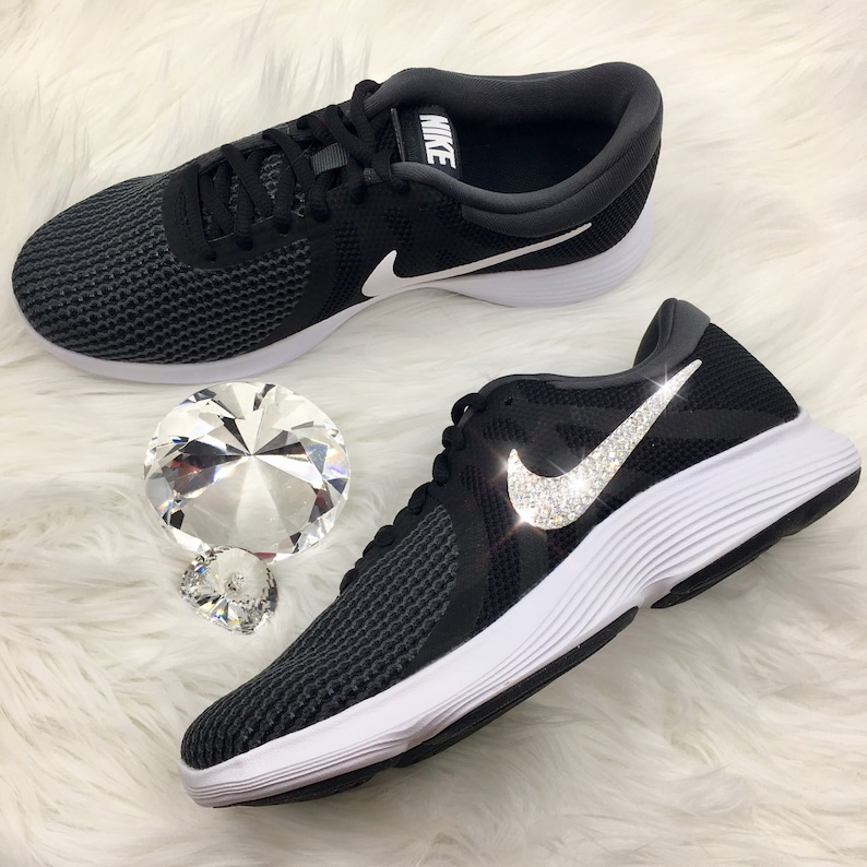 b9443fa4073 Bling Nike Revolution 4 Womens Shoes Bedazzled with Swarovski