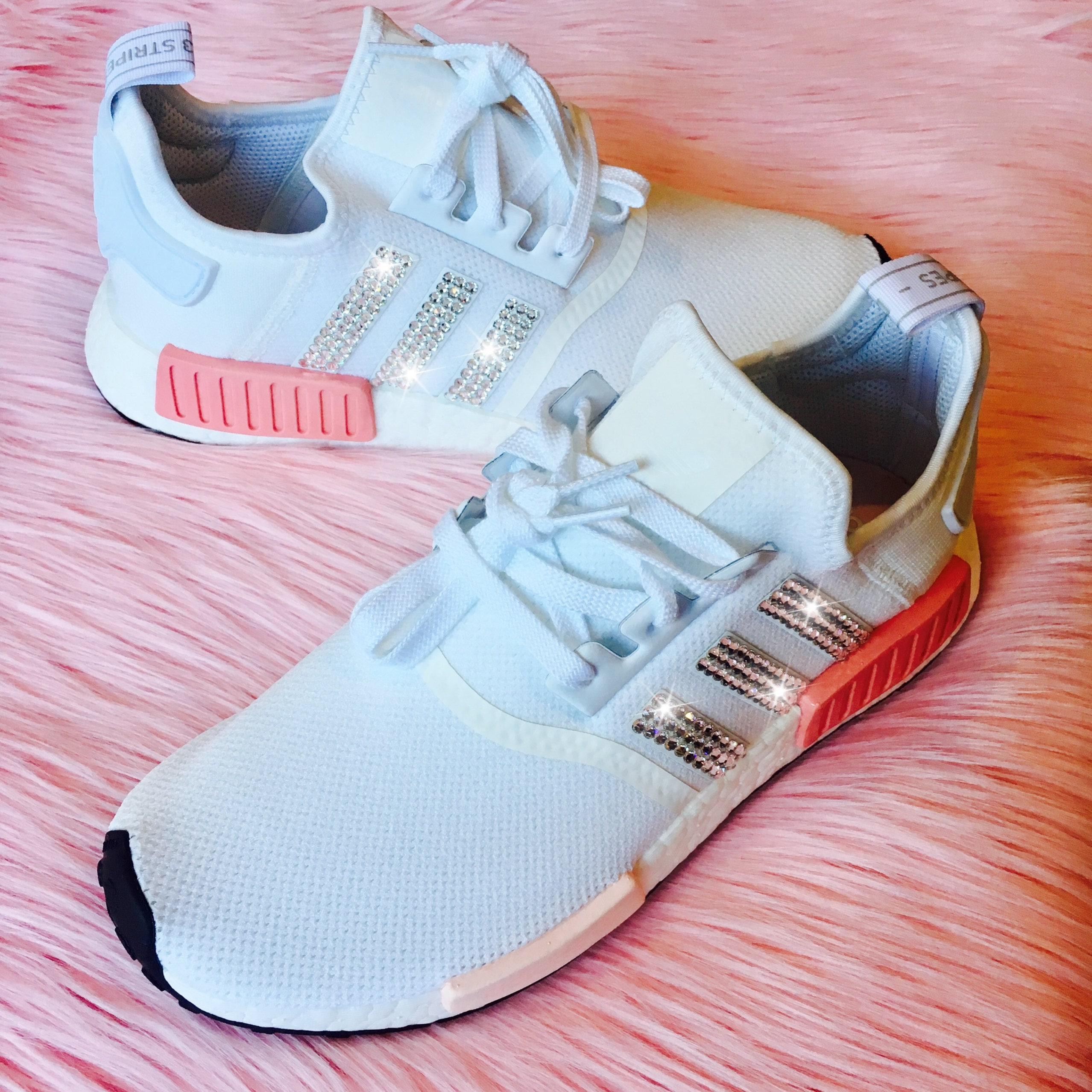 RESTOCKED Bling Adidas NMD with Swarovski Crystals White    d1110dcfe6