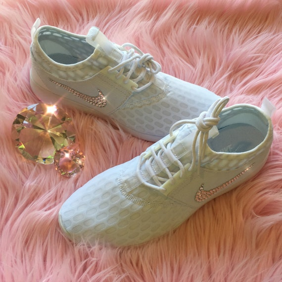Bling Nike Juvenate Shoes with Swarovski Crystals * White * Bedazzled w100% Authentic Swarovski Crystal Rhinestones *
