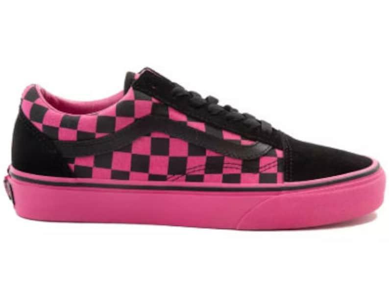 ab20f024b435b Swarovski Vans Old Skool Chex Women's Skate Shoes Blinged out with  SWAROVSKI® Crystals Bling Vans in Pink & Black