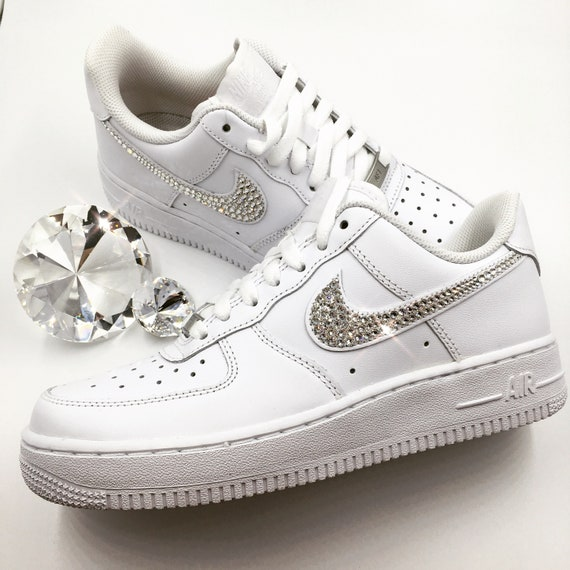 0e0bde975a921 Bling Nike Air Force 1 '07 with Swarovski Crystals * ALL White * Bedazzled  w/100% Authentic Swarovski Crystal Rhinestones AF1