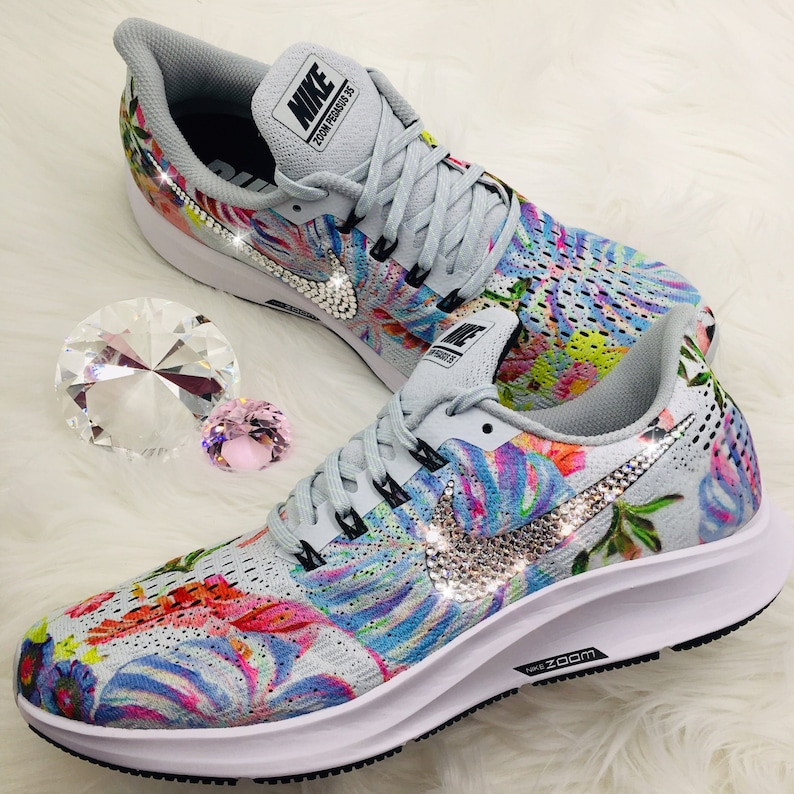 Swarovski Nike Air Zoom Pegasus 35 bedazzled with SWAROVSKI®  97673cc7d