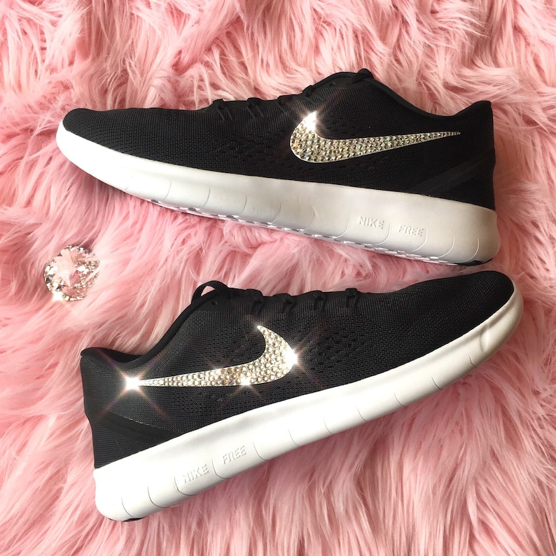 22325f243a76 Bling Nike Free RN Running Shoes with Swarovski Crystals