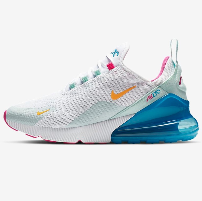 huge discount differently info for Swarovski Nike Air Max 270 Shoes Blinged out with SWAROVSKI® Crystals Bling  Nike Shoes in White Pink and Blue