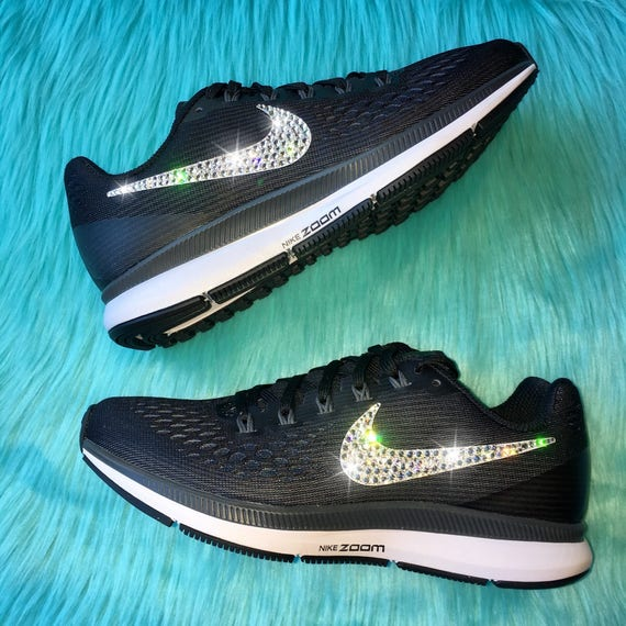 NEW Bling Nike Air Zoom Pegasus 34 Shoes with Swarovski  b8c2c53d95