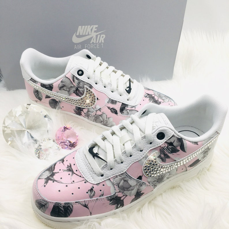 d5ccbfc575737 Bling Nike Air Force 1 '07 LXX with Swarovski Crystals * Floral * Bedazzled  w/100% Authentic Swarovski Crystal Rhinestones AF1
