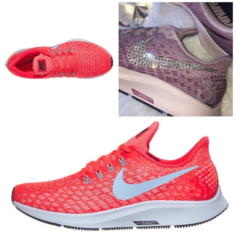 f7be331ee12c3 NEW Bling Nike Air Zoom Pegasus 35 Shoes with Swarovski Crystals * Crimson