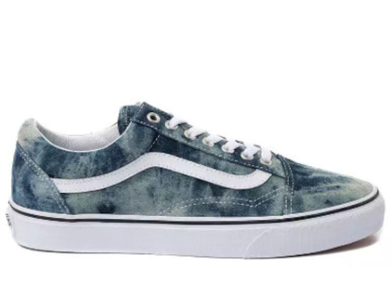01adfc942a5ba Swarovski Vans Old School Women's Skate Shoes Blinged out with SWAROVSKI®  Crystals Bling Vans in Denim