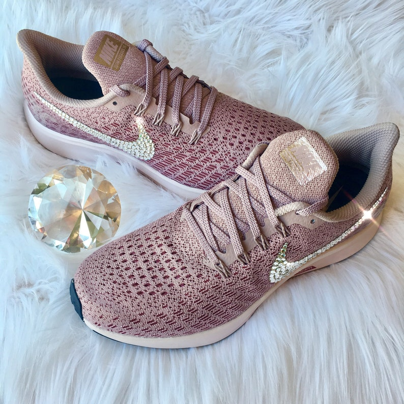 79c9b27e0a1ff NEW Bling Nike Air Zoom Pegasus 35 Shoes with Swarovski