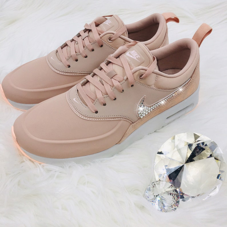 d7fa47ca082c NEW Bling Nike Air Max Thea Premium Shoes with Swarovski