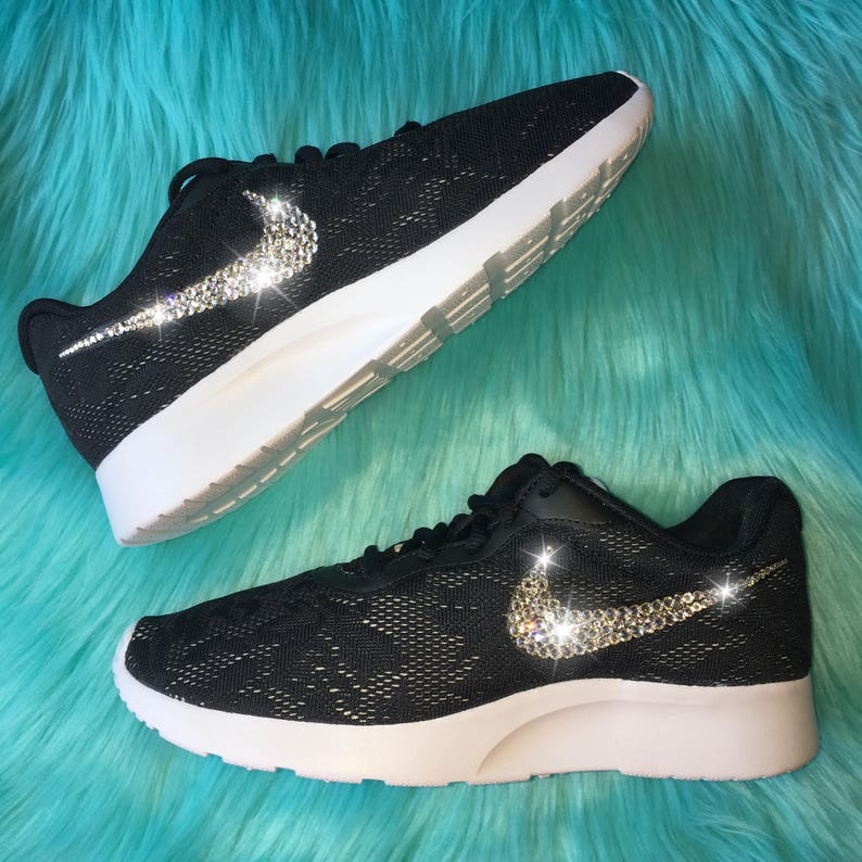 582bd690 Bling Nike Tanjun ENG Shoes with Swarovski Crystals Black | Etsy