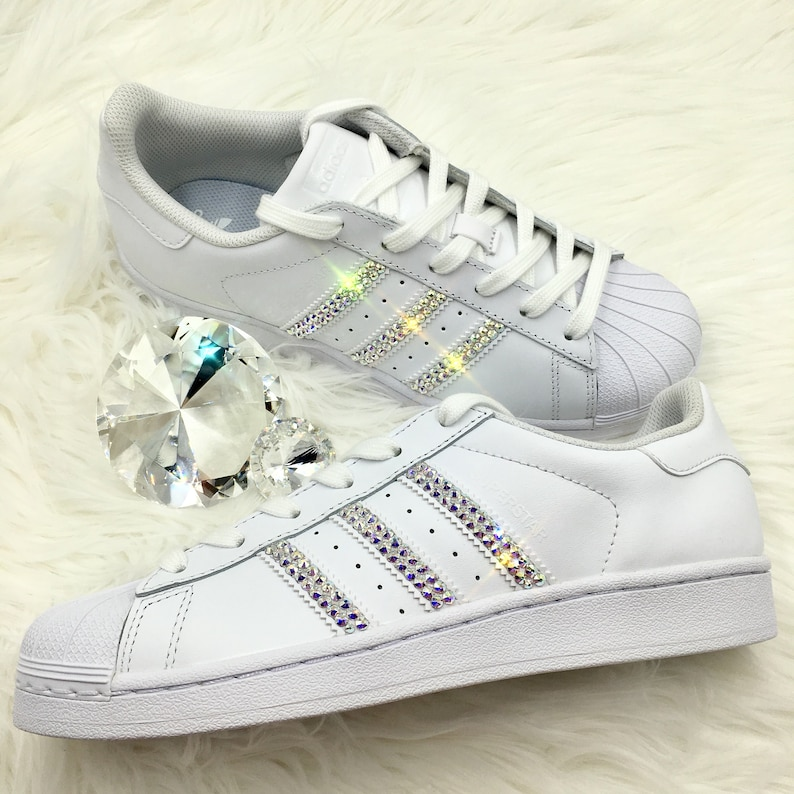 check out c90e1 564fc Bling Adidas with Swarovski Crystals Women s Original   Etsy