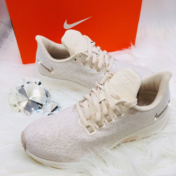 best website 8f91d 7f52b Bling Nike Air Zoom Pegasus 35 Premium Shoes - Guava Ice - Bedazzled  Swooshes Handmade with Swarovski Crystals