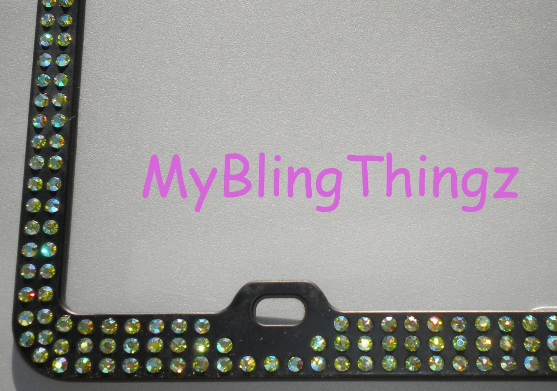 3 Rows Peridot AB Iridescent Green Crystal BLING Inset /   Etsy