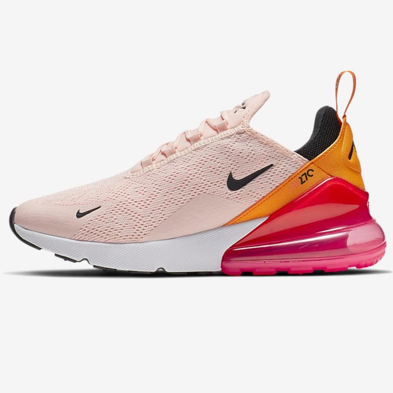 Swarovski Nike Air Max 270 Shoes Blinged out with SWAROVSKI® Crystals Bling Nike Shoes in Coral, Pink& Orange