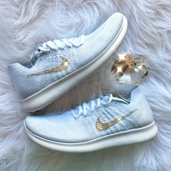 Crystal Bling Nike Free RN Flyknit 2017 Shoes with Swarovski  258ec3918c06