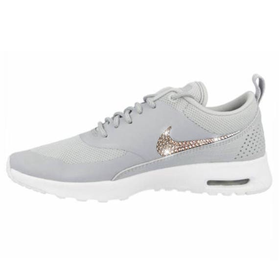 5ed5fe6f87f3 Bling Nike Air Max Thea Shoes with Swarovski Crystals Wolf