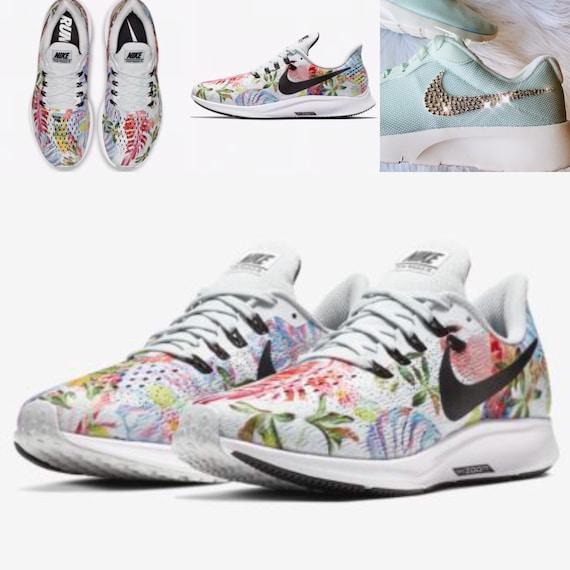 3d14ad4dba286 PRE-ORDER Bling Nike Air Zoom Pegasus 35 Floral Shoes