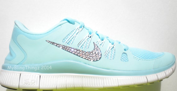 Last One Size 7.5 Bling Nike Free 5.0 Shoes Glacier Ice    4e2b64ed1761