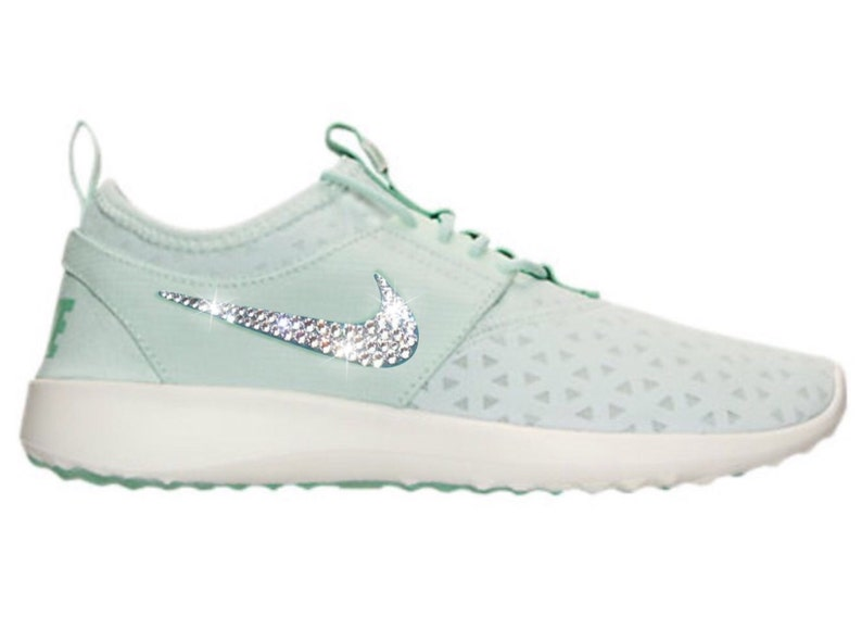 91d08b2f171e Bling Nike Juvenate Shoes with Swarovski Crystals Pale Green
