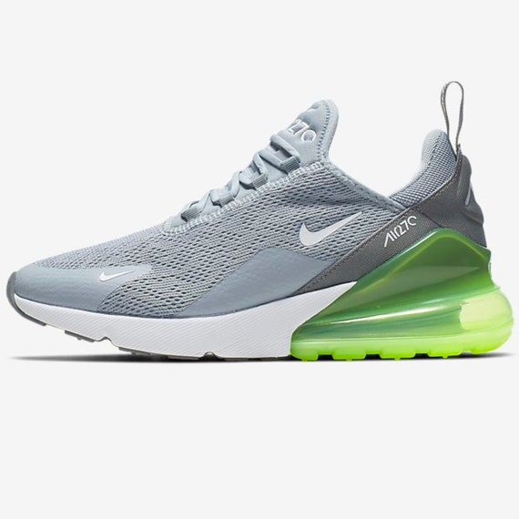 Swarovski Nike Air Max 270 Shoes Blinged out with SWAROVSKI® Crystals Bling Nike Shoes in Grey & Lime